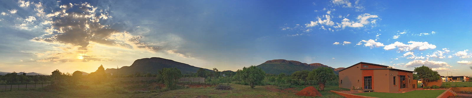 Magalies Mountains as seen from Incendo Distillery in Hartbeespoort