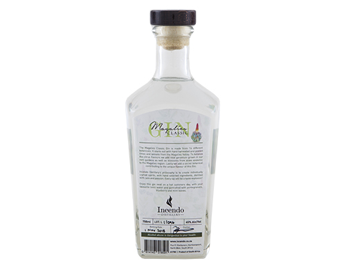 Magalies Classic Gin 750ml Bottle Back