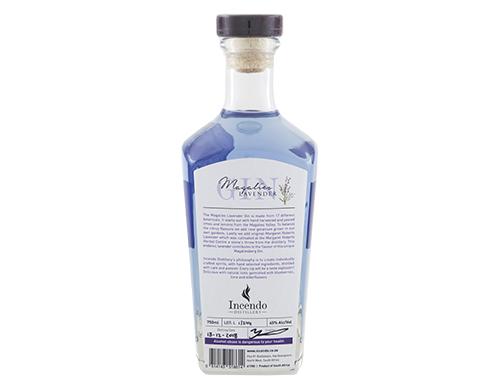 Magalies Lavender Gin 750ml Bottle Back
