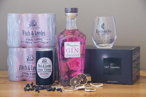 Magalies Rose Gin with Fitch & Leeds Sugar Free Pink Tonic